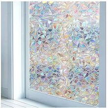 Window-Film Glass Tinted Self-Adhesive-Film No-Glue Privacy Static 3D Stained