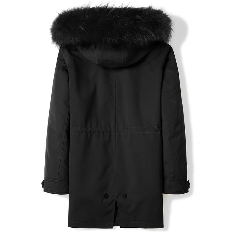 Winter Jacket Men Parka Real Fur Coat Rabbit Fur Liner Thick Luxury Coat Men Raccoon Fur Collar Hooded Parkas D09A9721