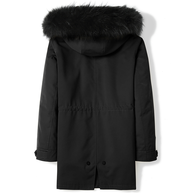 Winter Jacket Real Fur Coat Men Parka Natural Rabbit Fur Liner Raccoon Fur Hooded Warm Parkas De Hombre D09A9705 KJ3744