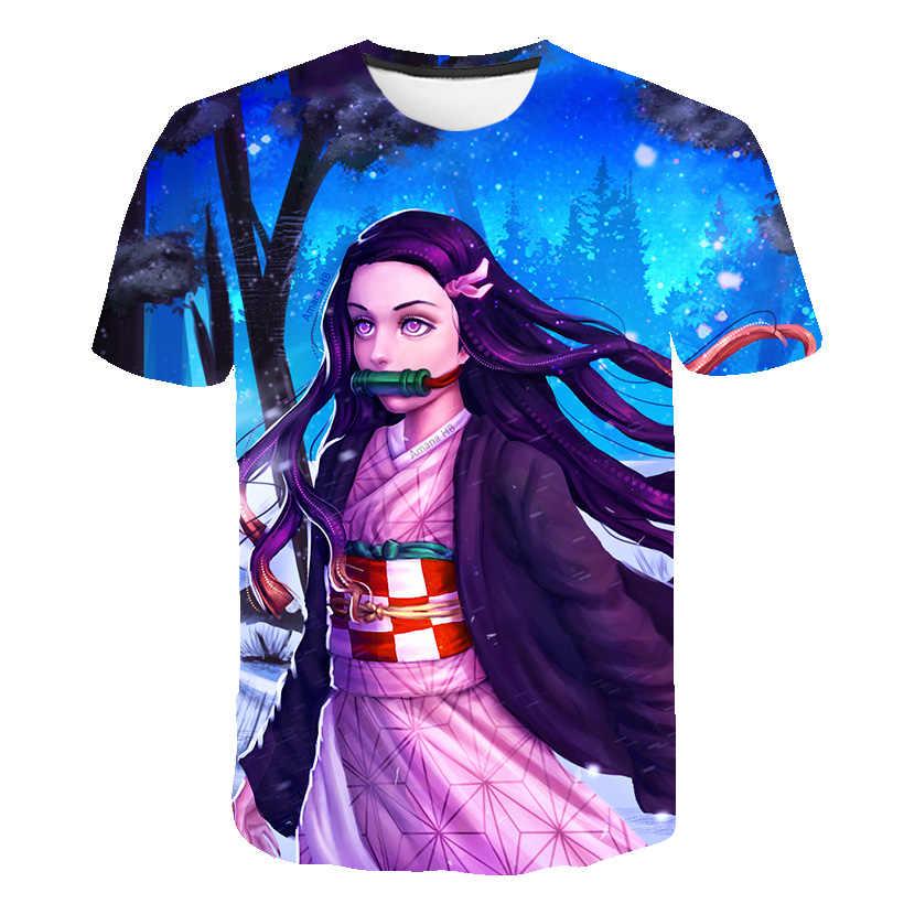 2020 3D男の子服アニメ悪魔特効tシャツkimetsuなしyaiba子供服子供の服ストリート服