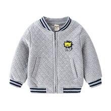 Baseball Jacket Clothing Boys Coat Print Autumn Winter Kids Cartoon Letter Cotton O-Neck