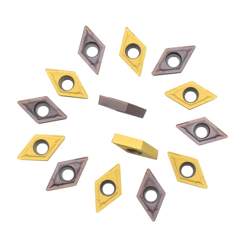 10pcs DCMT070204 UE6020 / US735/VP15TF Carbide Inserts Internal Turning Tools  Cutting Tool CNC Tools Lathe Cutter