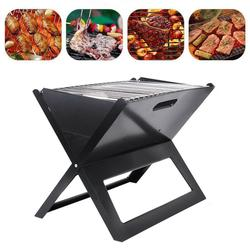 Yonntech Portable Barbecue X-Type Foldable BBQ Grill Compact Charcoal Bars Smoker Outdoor Portable Camping Cooker