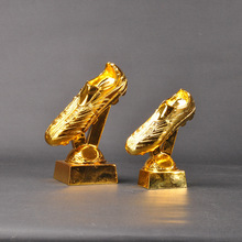 New Football Sports Trophy Custom World Cup Gift Resin Electroplated Gold Boots Golden Boots Award Best Shooter Decorations jules rimet trophy cup the world cup trophy champions trophy cup for soccer souvenirs award
