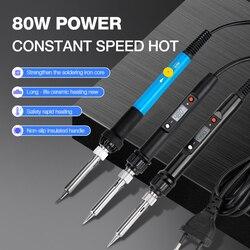 Soldadura eléctrica de hierro 60W/80W temperatura ajustable 220V 110V soldadura de hierro Estación de soldadura accesorios de hierro