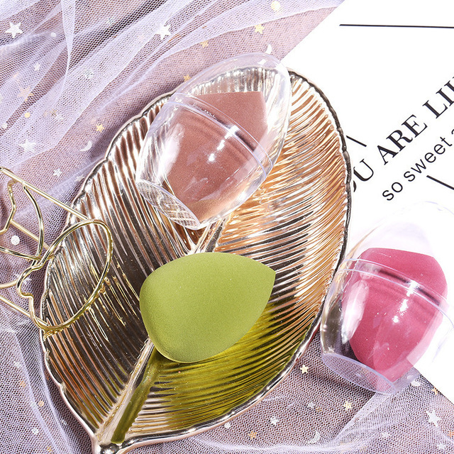 Guicami Lin Yun Celebrity Style Wet And Dry Dual Purpose Not Eat Powder Ultra-Soft Cosmetic Egg Sponge Puff for Makeup Packaged 3