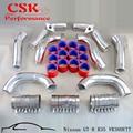Intercooler Duro Tubo di Aspirazione Kit Misura per Nissan GT R R35 VR38DETT VR38 Nero/Blu/Rosso su