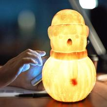 indoor abs 6 kinds phase of the moon led wall moon lamp with remote control relaxing healing moon christmas night light for kids LED Snowman Starry Sky Moon Night Light With USB Charging Decoration Night Lamp Support Remote Control For Children Kids Gift