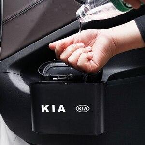 Image 5 - Lata de lixo do carro assento de carro porta traseira pendurado caixa de armazenamento lata de lixo para kia k2 k3 k5 k9 ceed sportage sorento cerato sid r rio alma