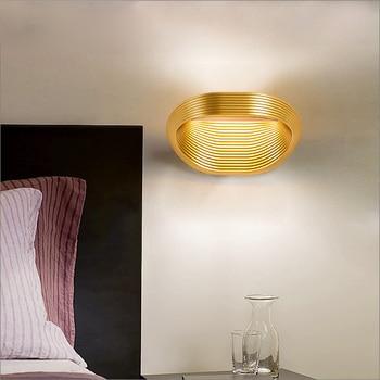 Post-modern minimalist bedroom bedside lamp living room aisle background wall light wave pattern wall lamp