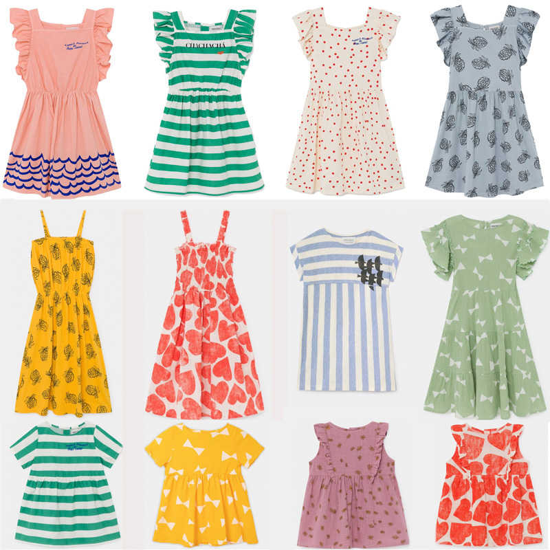 Kids Dress 2020 BC Brand New Spring Summer Girls Cute Print Short Sleeve Dresses Baby Child Fashion Clothes Dress