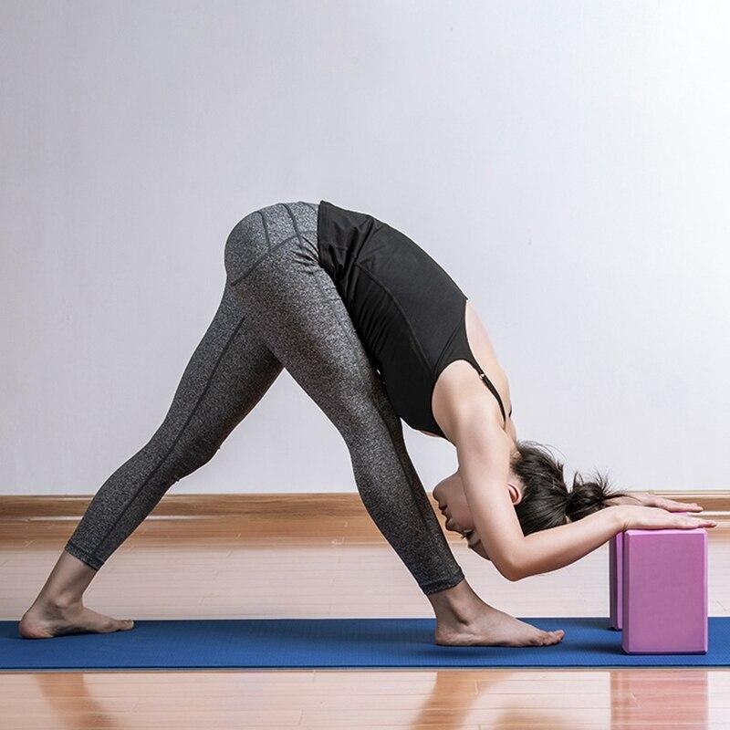 Treinamento de Saúde para Mulher Yoga Bloco Tijolo Pilates Esportes Exercício Ginásio Espuma Alongamento Ajuda Corpo Moldar Eva Mod. 344724