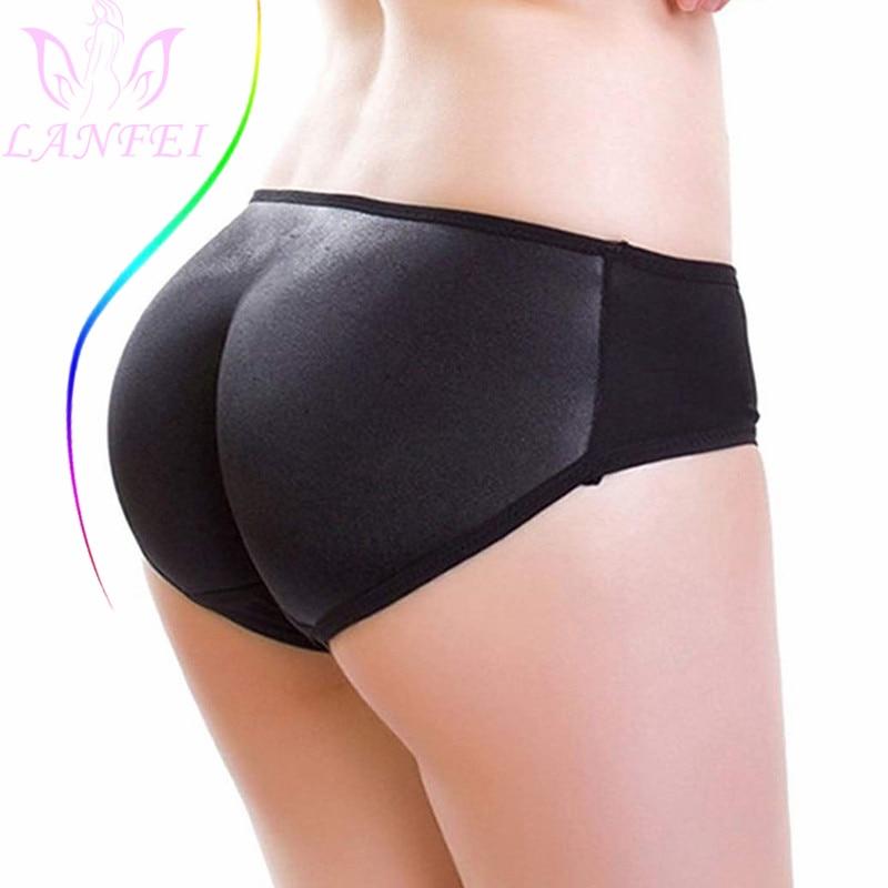 LANFEI Sexy Body Shaper Butt Lifter Paded Panties for Women Fajas Tummy Control Pants Fake Buttock Hip Enhancer Short Underwear