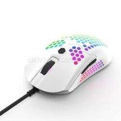 M5 Hollow-out Honeycomb Shell mysz do gier kolorowe podświetlane światło RGB przewodowe myszy Drop Shipping