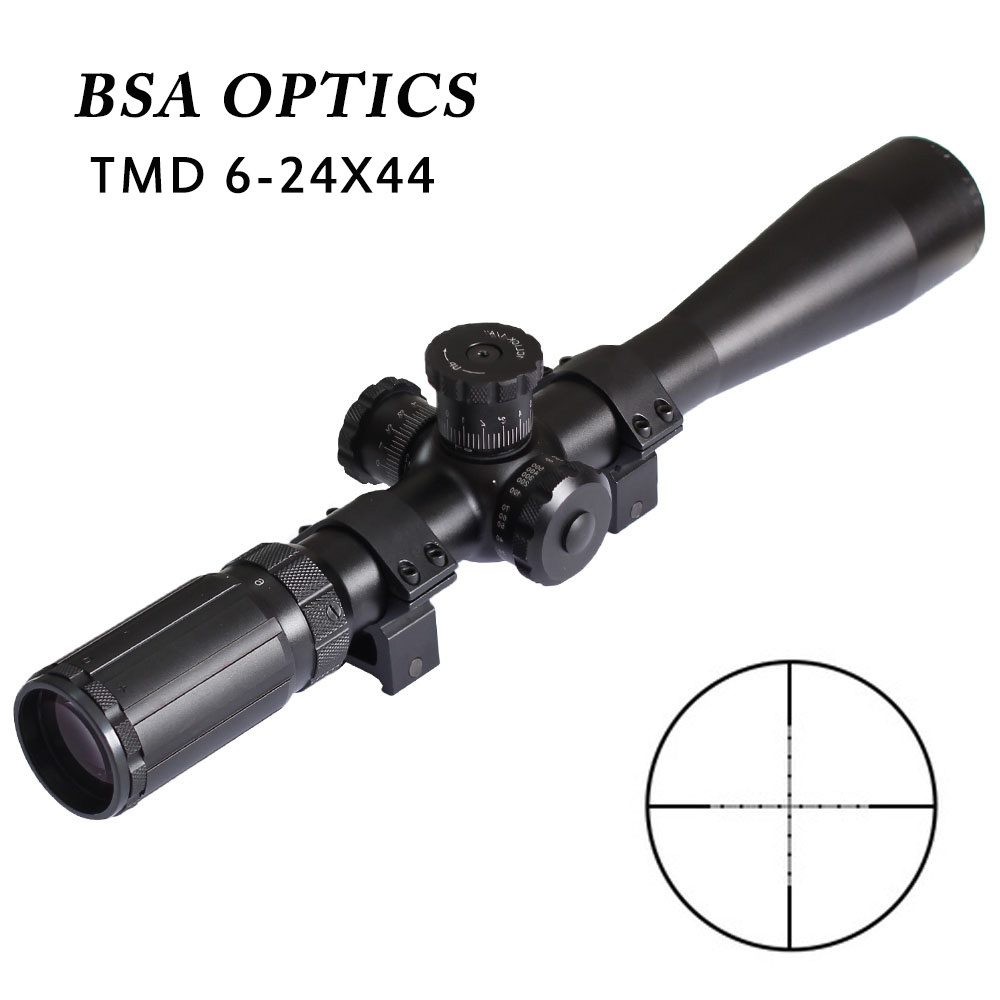 Rifle Scope TMD 6-24X44 SFP Optics Sight Mil Dot Reticle Riflescope Tactical Turrets For Hunting Shooting