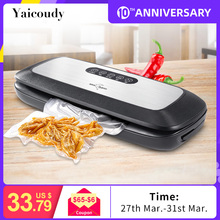 цена на Kitchen Vacuum Food Sealer With 10PCS Food Seal Bags Automatic Electric Food Vacuum Sealer Packaging Machine 220V 110V