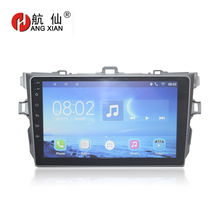цена на HANGXIAN 9 Android 7.0 Car Multimedia Radio dvd gps Player For Toyota Corolla 2007 2008 2009 2010 2011 car stereo navigation
