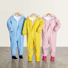 Kid's Waterproof Raincoat For Children Kids Baby Rain Coat Poncho Boys Girls Primary School Students Siamese Rain Suit