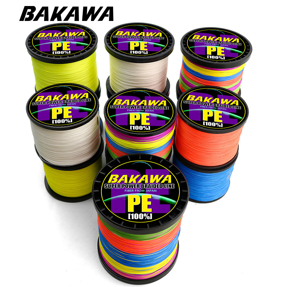 BAKAWA 9/8 Strand Carp Fishing Line Pesca Braided Wire Peche Spinning Multifilamento Fly Cord  Accessories1000M 500M 300M 100M
