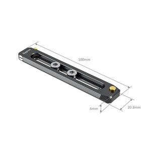 """Image 2 - Rail otan de 100mm de longueur 6mm dépaisseur avec Rail otan 1/4 """" 20 vis de montage pour pince/poignée/monture Evf otan 2485"""
