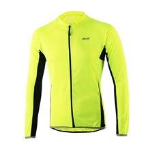 Pro-Maillot de Ciclismo de manga larga para hombre, ropa de Ciclismo de montaña transpirable con correa reflectante