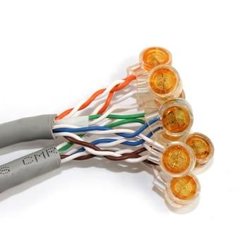 10 Uds. Conector Rj45 terminales de conexión de crimpado K1 conector cableado impermeable Cable Ethernet Cable de teléfono término