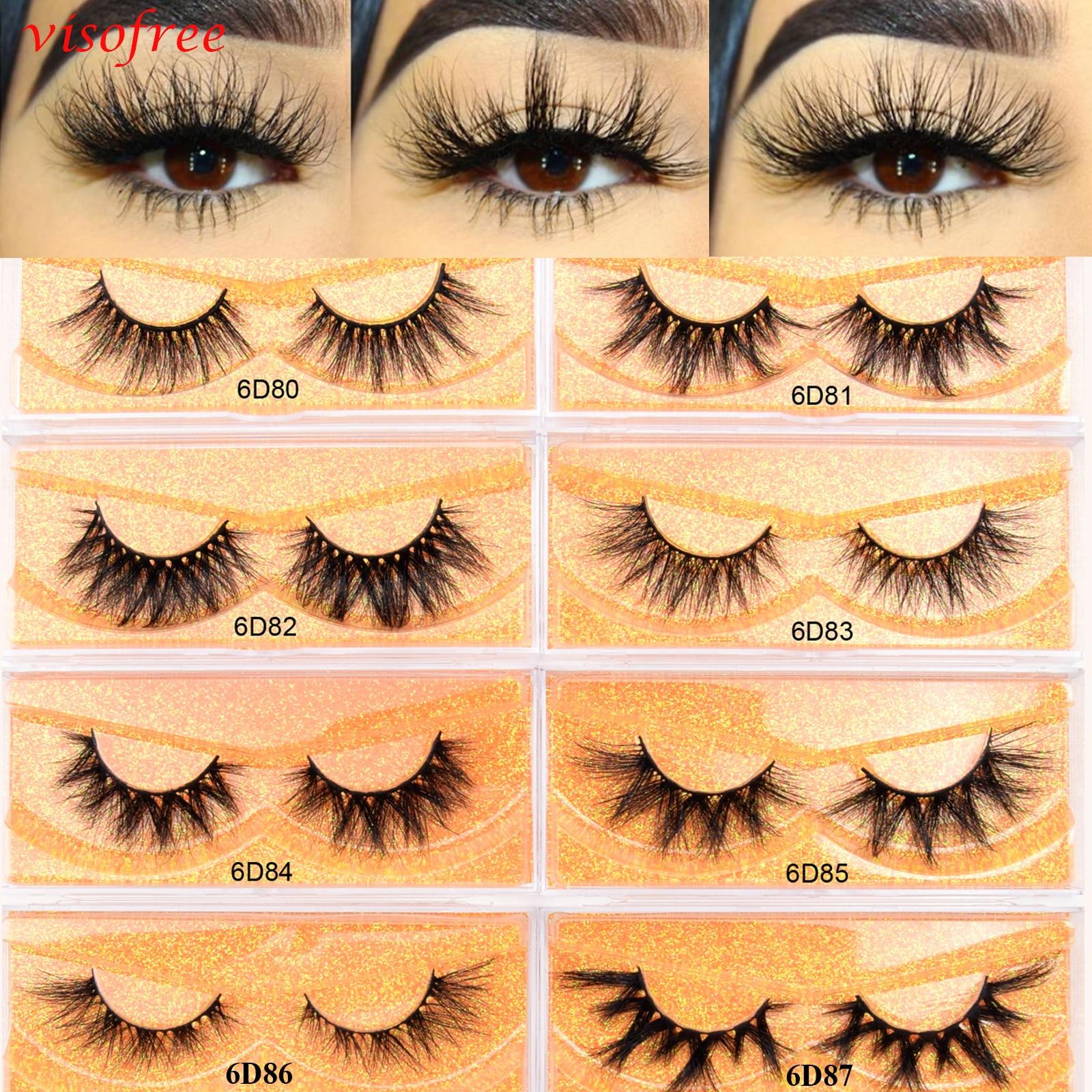 Visofree 5D Mink Eyelashes Cruelty Free Natural False Eyelashes Lashes Fluffy Soft Fake Eyelashes Extension Makeup Eyelashes