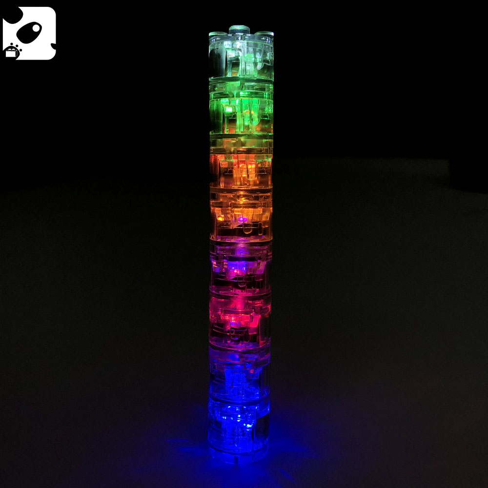 City Building Blocks Parts Minifigs LED Light 2X2 Classic Mini Bricks Accessories Children Educational Light Emitting Toys Gift