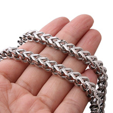 Stainless Steel Link Necklace Men 24 Inch 6MM Collar Cuban Male Long Curb Double Chain Necklaces Party Anniversary