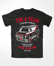 T-Shirtr Novelty Cartoon T Shirt The A-TEAM Auto Car T-Shirt FUN TV Serie Film Mr.T. Hannibal Murdock Face B.A. Movie