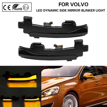 цена на Pair LED dynamic side mirror blinker Light Turn Signal Lamp For Volvo S60 CC S60 II S80 II V40 CC 40 II V60 V60 CC V70 III