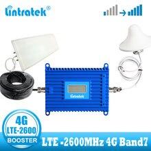 4G LTE wzmacniacz sygnału telefonii komórkowej 2600MHz wzmacniacz sygnału 70dBi zysk 2600 4G świeci telefon komórkowy wzmacniacz sygnału z wyświetlaczem lcd