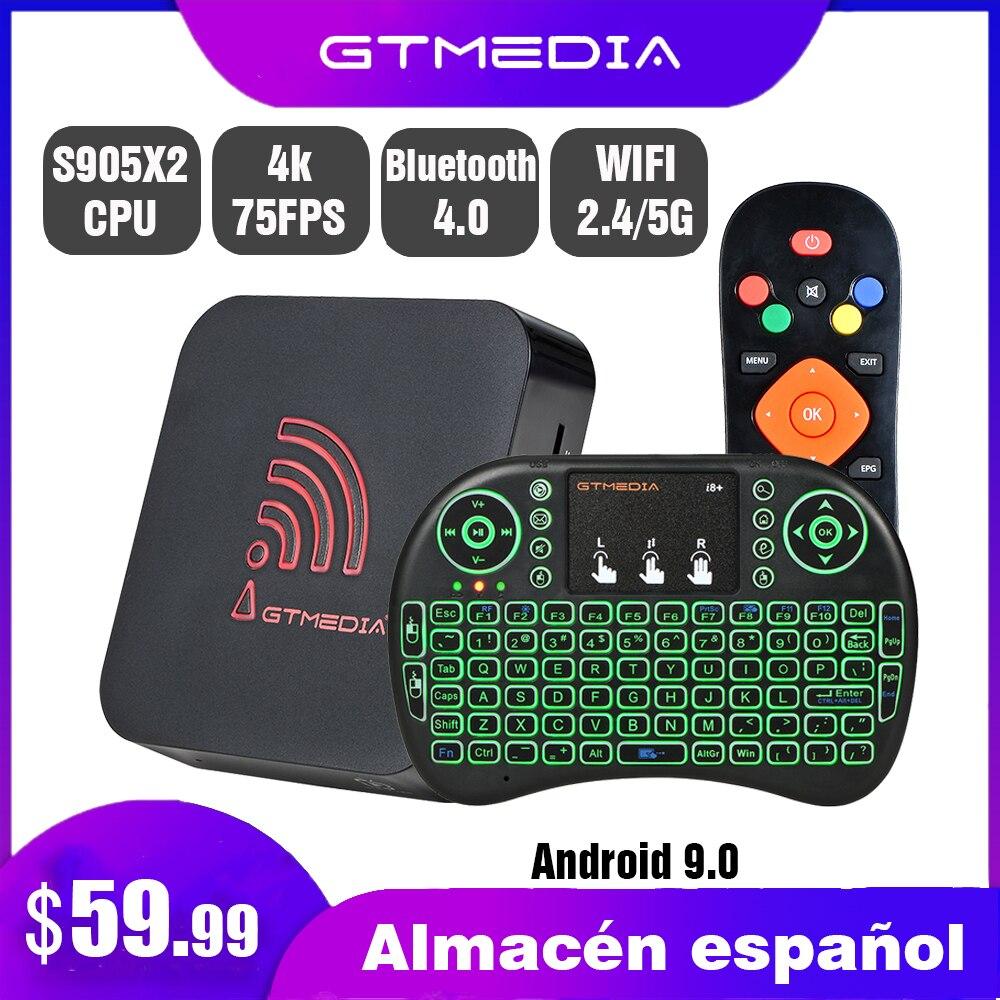 Оригинальная Смарт ТВ-приставка GTmedia G5, Android 9,0, четырехъядерный процессор Amlogic S905X2, 4 Гб + 64 ГБ, ARM, 2,4 ГГц + 5G, Wi-Fi, Bluetooth, ТВ-приставка 4k HDR