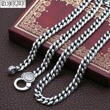 100% Серебро 925 тибетское ожерелье с шестью словами буддийское