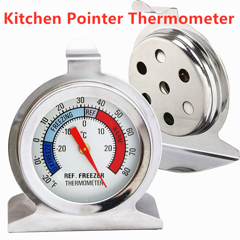 1PC Kitchen Thermometer Kitchen Oven Food Meat Temperature Stand Up Dial Pointer Thermometer Temperature Measurements