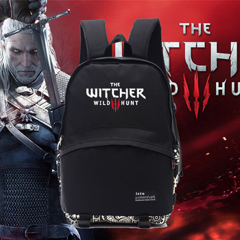 The Witcher-3 Wild Hunt Backpack Travel bag Geralt of Rivia one piece White Wolf faction Cirilla Eredin Demon toys