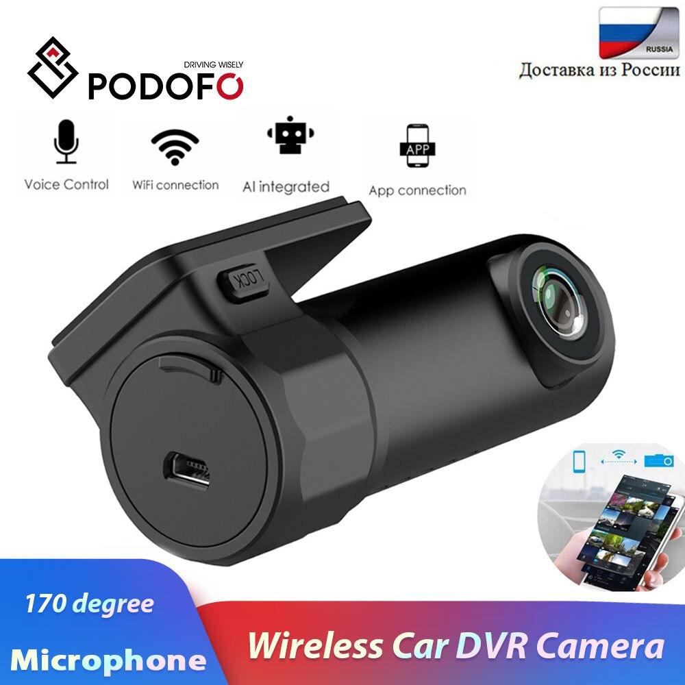 Podofo Car DVR Camera Video-Recorder Dash-Cam App-Monitor WIFI Night-Version Wireless