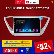 Junsun V1 2G + 32G Android 10 4G Auto Radio Multimedia Audio Player Gps Navigatie Voor Hyundai solaris 2 Verna 2017 2018 Geen 2 Din