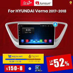 Image 1 - Junsun V1 2G + 32G Android 10 4G Auto Radio Multimedia Audio Player Gps Navigatie Voor Hyundai solaris 2 Verna 2017 2018 Geen 2 Din