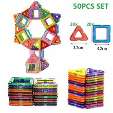 50PCS Magnetic Building Blocks Magnetic Designer Construction Set Model  Building Toy Magnets Magnetic Blocks Educational Toys new 180pcs mini magnetic designer construction set model