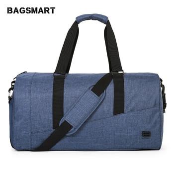 BAGSMART Large Capacity Travel Bag Nylon Carry on Luggage Bag Travel Duffle with Shoe Pocket Travel Luggage Weekend Bag