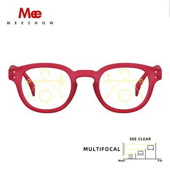 Meeshow, gafas de lectura multifocales transparentes para hombre, gafas Retro, gafas, gafas...