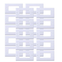 LETAOSK 20pcs 11.4cm*7cm Faceplate Blank Wall Outlet Socket Plate Keystone Jack Replacement 20pcs 0 36