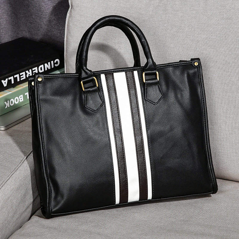 2020 New Famous Brand Business Men Briefcase Bag Luxury Leather Laptop Bag Man Shoulder Crossbody Bags For Male Office Hand Tote