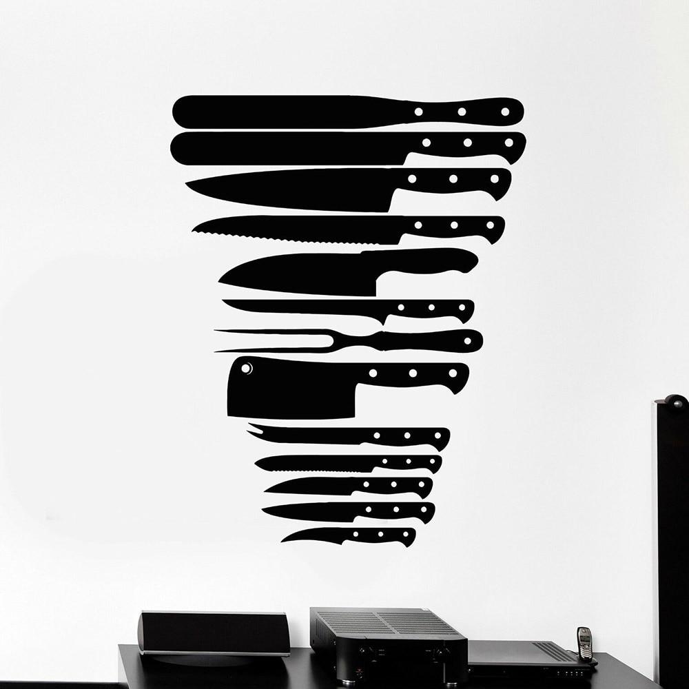 Autocollants muraux en vinyle   Grands Stickers décoratifs pour restaurant, décoration de la maison pour salle à manger peintures dart C651