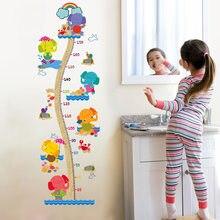 Autocollants muraux motif éléphant Zoos | Règle de mesure de hauteur, pour chambre d'enfant, Stickers pour fête et pépinière