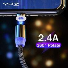 YKZ Магнитный Micro USB кабель для huawei samsung Xiaomi Android Tablet Магнитный зарядный кабель для мобильного телефона шнур провод 1 м