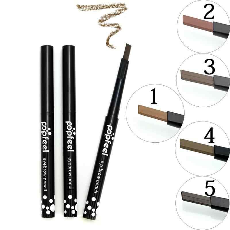 1 stücke Einzigen Kopf Automatische Rotation Augenbraue Bleistift 5 Farbe Nicht Blühenden Anhaltende Augenbraue Pinsel Langlebig Wasserdicht Stirn Creme