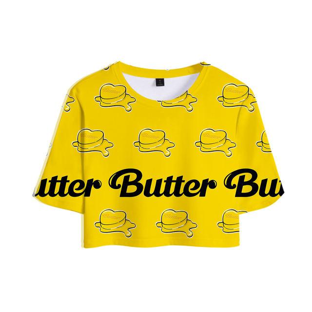 BTS BUTTER CROP TOP T-SHIRT