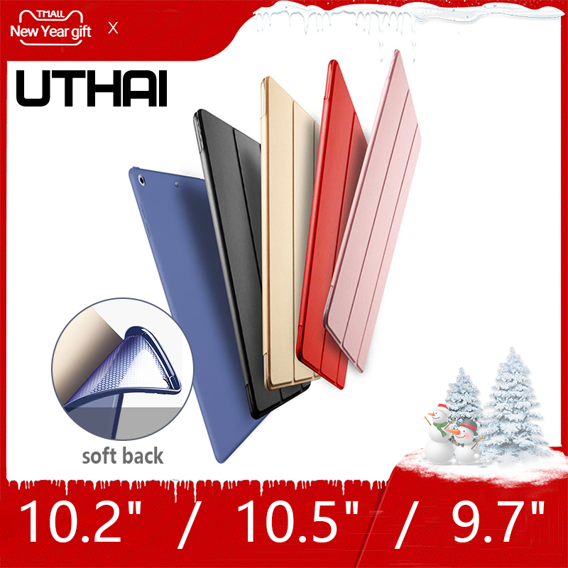 UTHAI E003 For IPad 9.7 Inch Ultra-thin Magnetic Cover 2018  PU Leather Back Cover Cover Automatic Sleep / For IPad 10.2/10.5